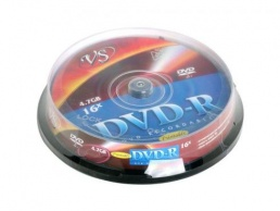 Диски DVD-R VS 16x 4.7Gb CakeBox Printable 10шт 62079 - фото