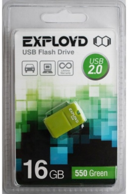 USB Flash Drive 16Gb - Exployd 550 mini Green EX0016GB550-mini-G - фото